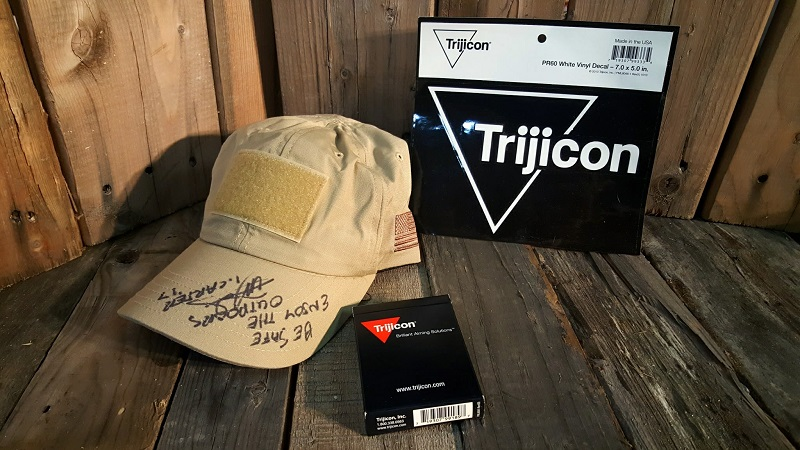 Trijicon Caps signed by Ivan Carter