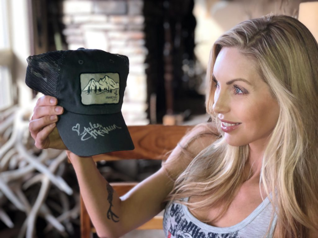 Julie McQueen - Signed Swarovski Optik Cap